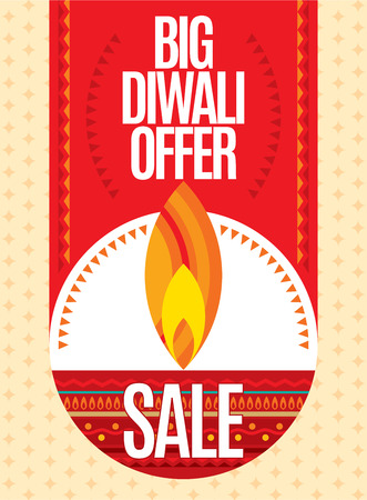 sale sticker: Vector design for Deepawali festival.