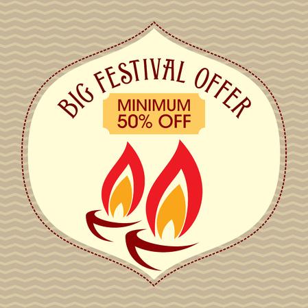 ganapati: Vector design for Deepawali festival.