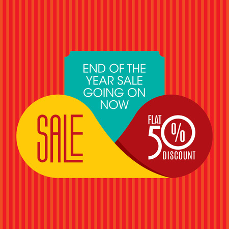 sales promotion: sale shopping background and label for business promotion