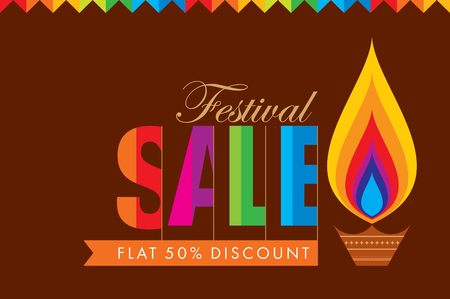 indian culture: sale shopping background and label for Diwali festival