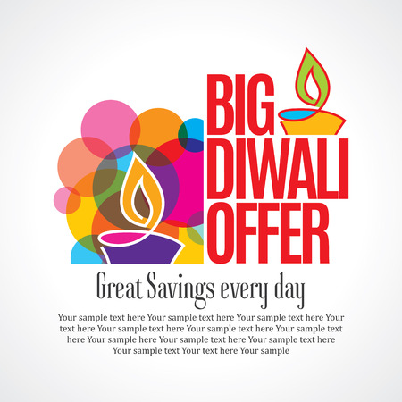 sale shopping background and label for Diwali festival