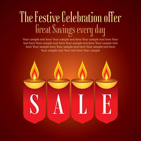 festival occasion: sale shopping background and label for Diwali festival