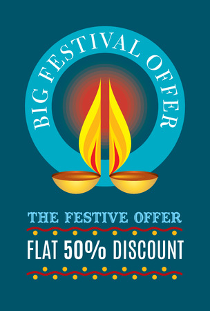 ganapati: sale shopping background and label for Diwali festival