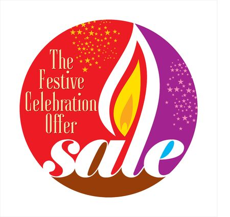 festival of lights: sale shopping background and label for Diwali festival