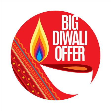 dipawali: sale shopping background and label for Diwali festival