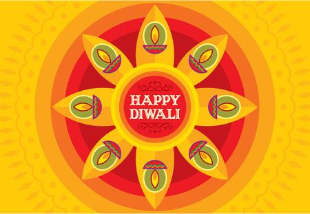 Vector design for Deepawali festival.