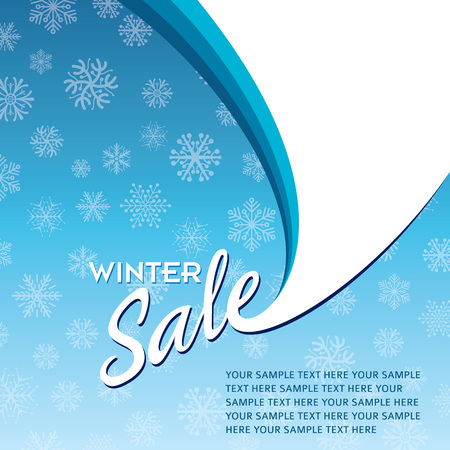 spots: Winter sale poster design template or Background. Creative business promotional vector.