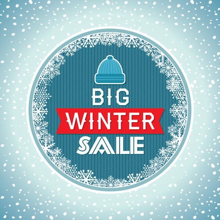 retailer: Winter sale poster design template or Background. Creative business promotional vector.