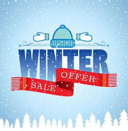 bell curve: Winter sale poster design template or Background. Creative business promotional vector.