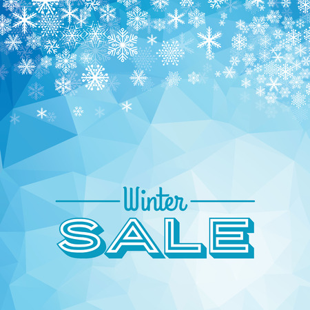 tally: Winter sale poster design template or Background. Creative business promotional vector.