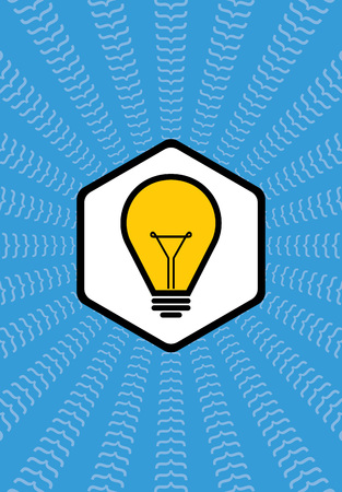 lightly: Light bulb vector icon creative idea