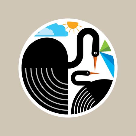 Creative Bird logo design Illustration