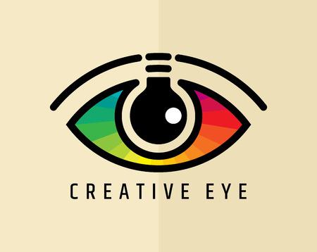 arte optico: Ojo creativo, vector Concepto Vectores