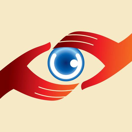 looks: Creative Eye, Concept vector Illustration
