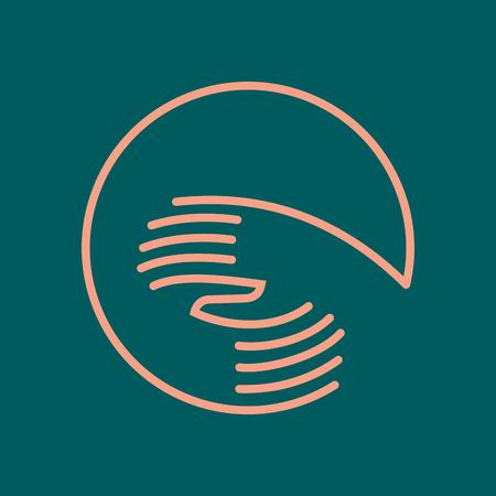 symbole de l'unité, illustration vectorielle Vecteurs