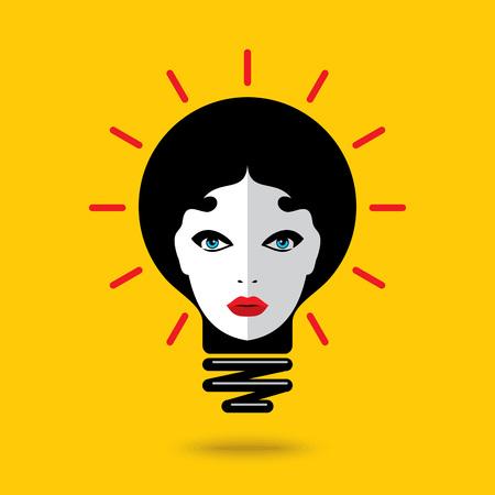 Creative fashion idea with idea bulb Illustration