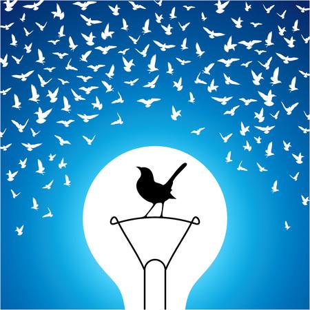 creative idea for Freedom. Illustration