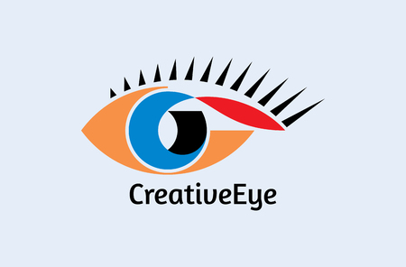 closeup: Creative Eye, Concept vector Illustration