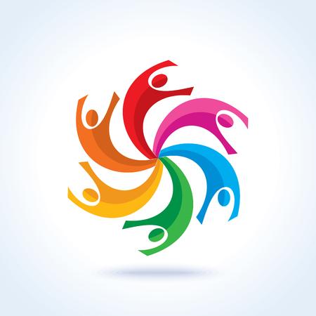 Logotipo do conceito de trabalho em equipe