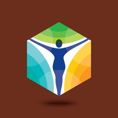 Yoga  Achievement, Creative Concept Logo