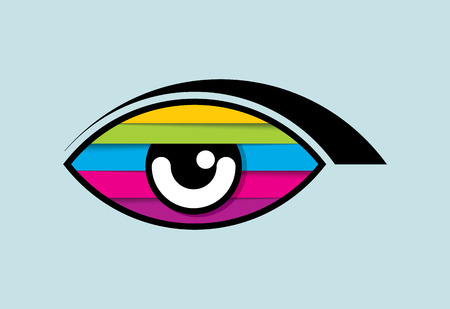 cinematic: Creative Eye, Concept vector Illustration