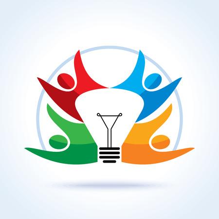 alegria: el concepto de idea creativa el trabajo en equipo