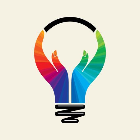 人間の手とアイデアに到達します。  イラスト・ベクター素材
