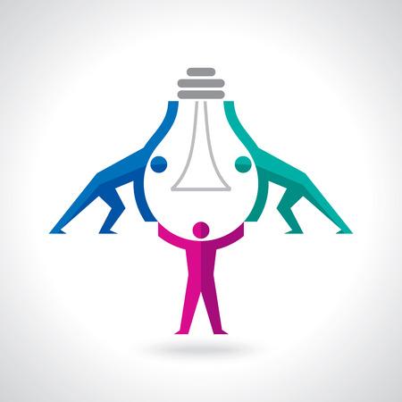 Teamwork Idee Konzept