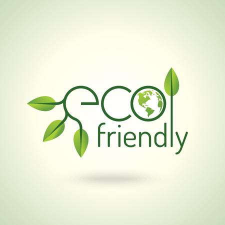 Eco friendly concept vector design