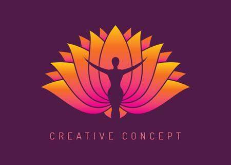 Yoga Spa Concept, vector illustration Ilustracja