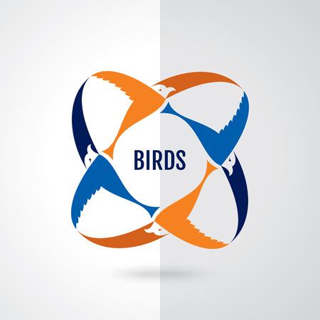 prophetic: Vector sign abstract flying bird logo or concept design