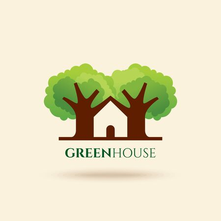 bio safety: eco friendly house vector Illustration