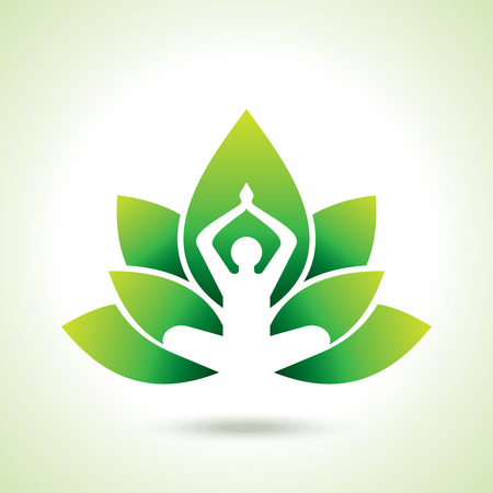 energy balance: Vector yogaspa icons and graphic design elements.
