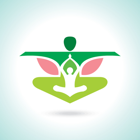 Vector yogaspa icons and graphic design elements.