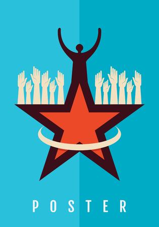 Creative poster of teamwork
