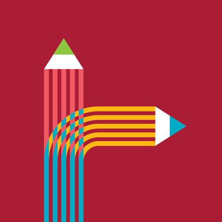 education concept: creative education concept vector