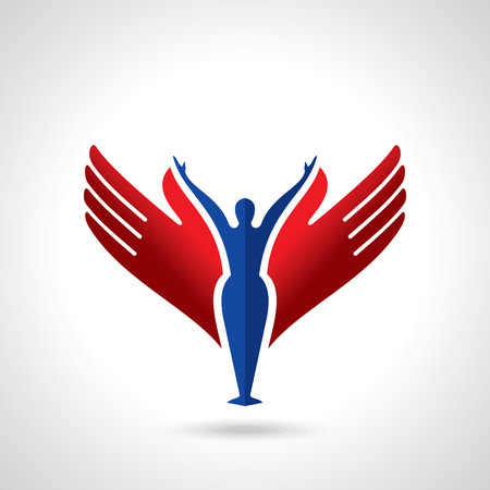 hand logo: Vector yoga  spa icons and graphic design, logo design.
