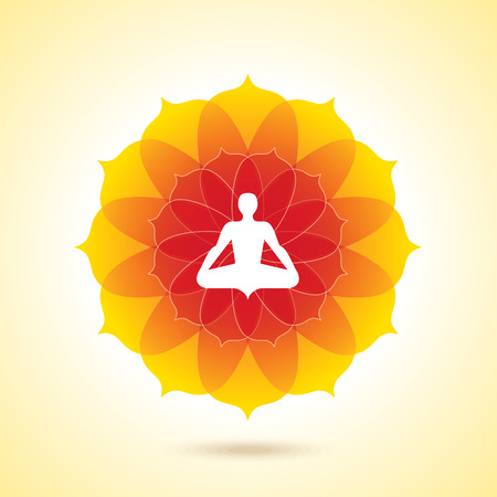 Vector yoga  spa icons and graphic design, logo design.