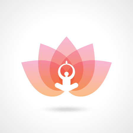 Design of yoga  spa icon and graphic elements.