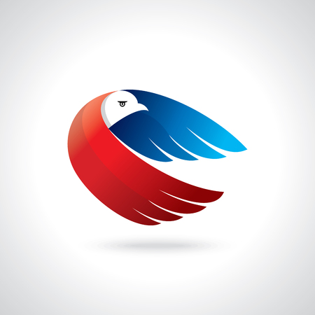 Abstract flying bird,delivery logo or concept design