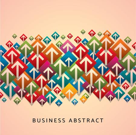 onwards: business arrows vector design