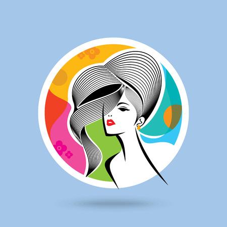 fashion design: Beautiful woman fashion design