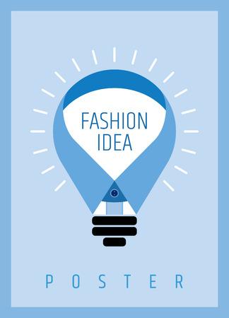 유행: 창조적 인 사람 패션 개념, 새로운 아이디어와 포스터 디자인 일러스트