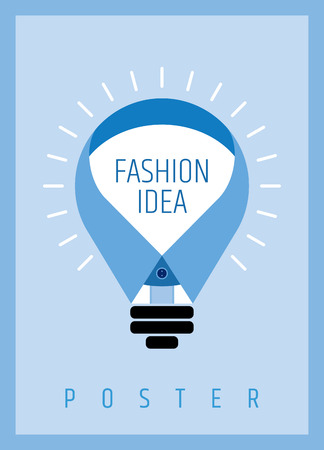 new idea: creative man fashion concept, poster design with new idea