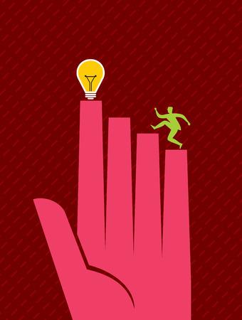 businessmen compete to get Idea.