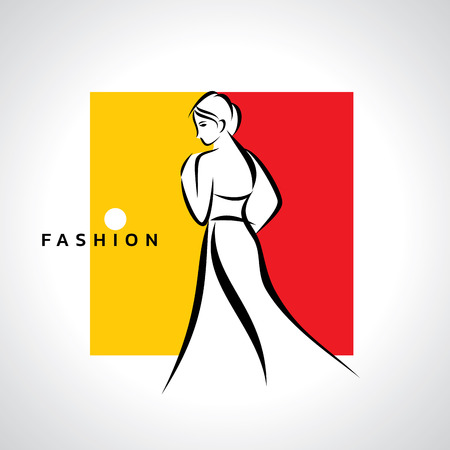 fashion design: woman fashion logo, vector design