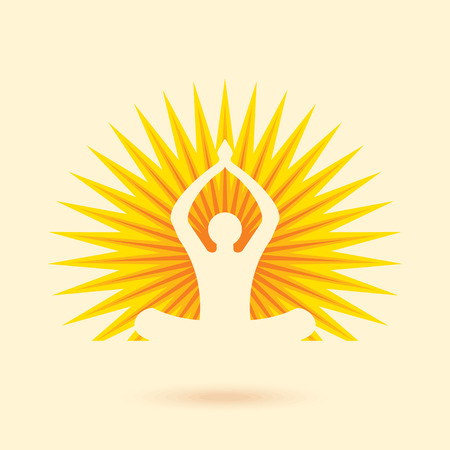 Vector yoga/spa icons and graphic design elements. Vettoriali