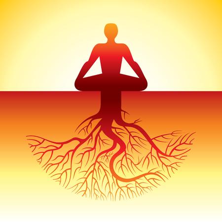 Vector yoga / spa icons and graphic design, logo design. Logo