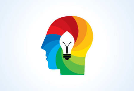 different idea: Thinking brain different idea, concept vector