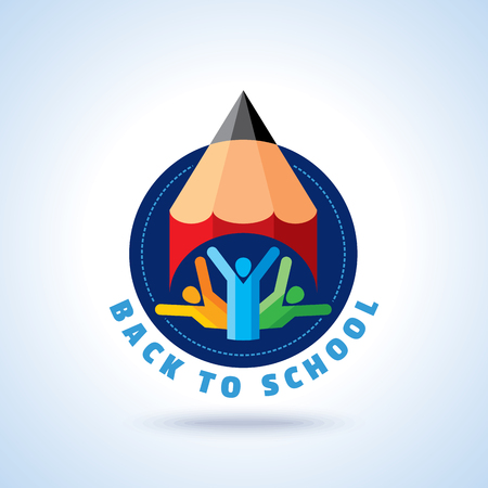 Back to school creative concept vector
